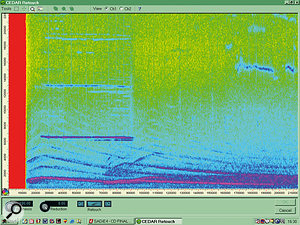 CEDAR Audio's Retouch: here you can see a distant siren sound that has spoiled an otherwise good recording.