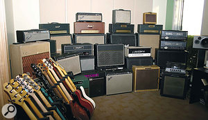 Alas, we can't all afford an amp collection like this — never mind the space in which to keep it!