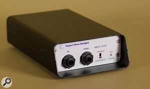 An alternative is to use a commercial DI box which can accept speaker signals, such as this Rupert Neve Designs one, which can be switched between speaker- and line-level level inputs.