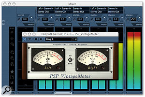 With modern 24-bit digital systems, you can afford to leave the same amount of headroom as you did by default in analogue, and taking an analogue approach to metering, using VU or PPM meters, can help avoid unnecessary worries about clipping. Though many sequencers don't have this facility built in, software such as PSP Audioware's freeware Vintage Meter offers a solution.