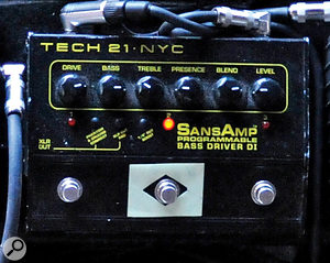 Adding harmonic distortion to a bass sound can help it cut through the mix. Some of the world's most respected producers recommend the Tech 21 SansAmp device for this effect.