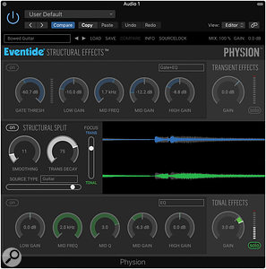 One of the presets of Eventide's Physion will deliver the sort of slow-attack effect that's often used by guitarists along with shimmer reverb.