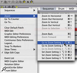 You'd never believe the humble zoom feature could have so many bells and whistles. But this Sequence Editor sub-menu is just the tip of the iceberg!