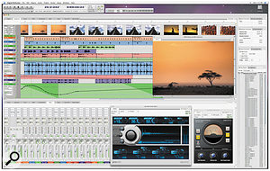 As this pre-release screenshot shows, DP6's user interface, brighter and lighter than in previous versions, does away with non-standard or redundant features like the window title-bar buttons and the Control Panel's editing window buttons. Despite the changes, experienced users should feel completely at home.
