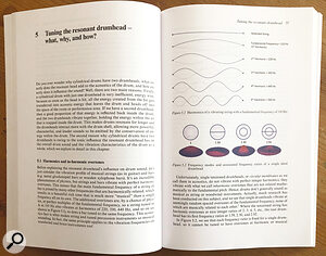 The paperback book, explaining the implications of adrum's harmonics and in‑harmonic overtones.