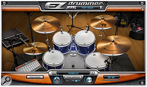 Toontrack's EZ Drummer main page.