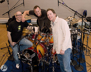 Dave Dysart of Submersible Music, pictured here on the right, with Jane's Addiction drummer Stephen Perkins at centre and Submersible's Gary Thompson on the left.