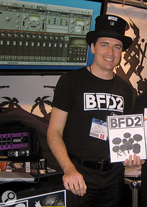 Skot McDonald of Fxpansion at the 2008 NAMM show in the USA.