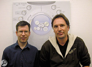 Paul Kellett (left), Digidesign AIR Group's Head of Research, and Peter Gorges, Director of Digidesign AIR Group.