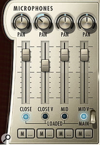 While Hollywood Harp Diamond Edition patches load with the 'Close Vintage' and 'Mid' microphone positions activated, your reviewer preferred the sound of the 'Close' and 'Main' (Decca Tree) mics.