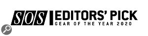 SOS Editors' Pick 2020 Gear Of The Year logo