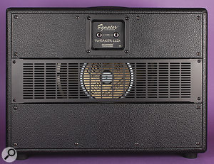 The rear of the optional speaker cabinet.