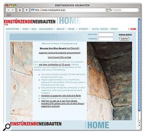 Having raised the funding for Phase 1 through their web site, Einstürzende Neubauten are now embarking on Phase 2...