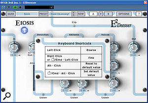 Though there are more controls than on your average de-esser, the interface is very easy to use, with some nice additional touches.