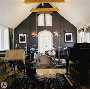 The live room at Phantom Studios.