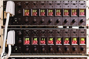 These custom-designed Deutsche Grammophon remote mic preamps reside in the live room.