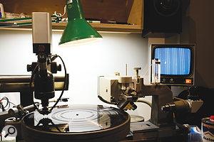 The Neumann VMS80 vinyl cutting lathe.