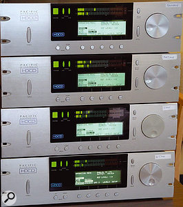 Part of Professor Johnson's bespoke recording rig: four Pacific Microsonics A-D converters, a snip at a mere $30,000 dollars apiece.
