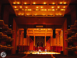 Looking towards the stage in the hall where the recordings for the Symphonic Orchestra Pro XP Edition were made.