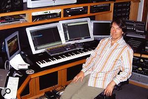 Composer David Newman in his studio.