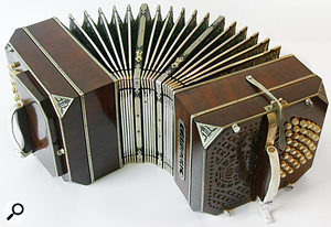 A bandoneon — one of the many accordion-type instruments offered by the Gypsy sample library.