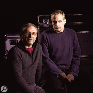 Fagen (right) with Elliott Scheiner, who engineered Morph The Cat as well as previous Fagen and Steely Dan projects.