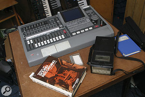 John Aldred's vintage Manual Of Sound Recording provided plenty of inspiration for the character of Brian Appleton. The Aiwa portable DAT recorder, right, sees a lot of use for gathering sound effects and ambiences.