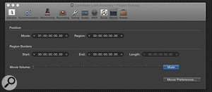 It's important to make sure that your DAW's internal timecode is in sync with the movie file's BITC. To do this in Logic Pro go to the Movie Settings box in the Position/Movie field, or in Cubase the Project Settings dialogue box, and in Pro Tools the Session Setup window. Most DAWs offer a similar facility, so if in doubt consult the manual.