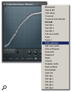 Waveshaper is a distortion plug-in that allows the user to draw a function mapping input to output levels.