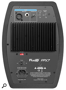 Rear panel of the Fluid FPX7 monitors.