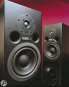 Fostex PM1 active monitors.