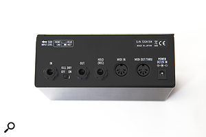 The rear panel's 'Kill Dry' switch allows the Flight Time to be set up as a  line-level studio send effect.