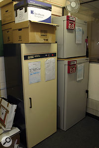 The Copyroom's three temperature-controlled ovens, used to cure old analogue tapes of 'sticky shed' syndrome.