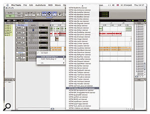 Adapted plug-ins appear in the standard plug-in list with the prefix 'VSTW'.