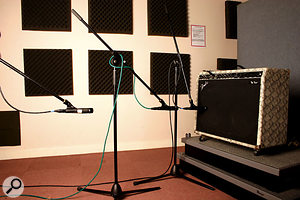 How far away from from the speaker cabinet the mic is placed has a significant impact on the recorded sound.