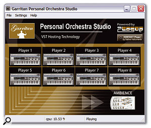 GPO Studio (see page 178) is a host that enables you to run eight instances of GPO Player and one instance of the Ambience reverb plug-in, and also adds MIDI ports to your system to make it easy to use GPO with score-writing software like Sibelius, Finale or the included Overture SE application.