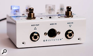 Lots of parameters can be controlled via MIDI, and the Aux In and Out sockets can be used for multiple functions.