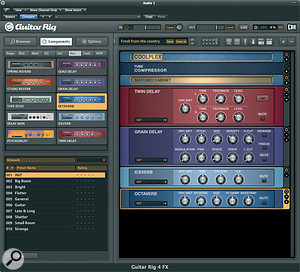 Guitar Rig 4 features some interesting new effects, further expanding its creative potential.