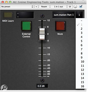 The plug–in allows for hassle-free remote control via almost any DAW software.