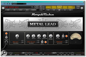 The main interface for Amplitube Metal, showing one of its five impressive new amp models.