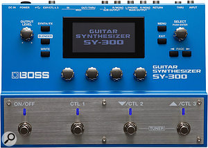 The Boss SY-300 features a built-in compressor, to ensure that the synth processing always has a healthy signal to work with.