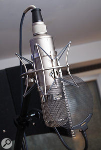 Ritson stresses the need for high–quality mics, but often uses one of two for his vocal recordings: a modern Flea Microphones recreation of a Neumann U47 valve mic, and a  Neumann U87.