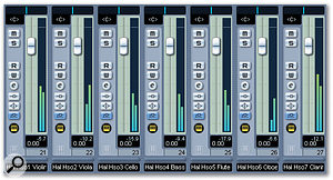 Using Halion Player's 16 stereo outputs, it is easy to tailor individual instruments or sections via the host mixer if required.
