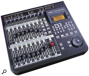 Many 16-track multitrackers (such as the Korg D1600 and Fostex VF16 shown here) are well suited to live use, because they not only provide the flexibility of multitrack backing, but also offer powerful onboard mixing facilities. One major limitation with such systems, however, is that they often have only a few physical outputs.
