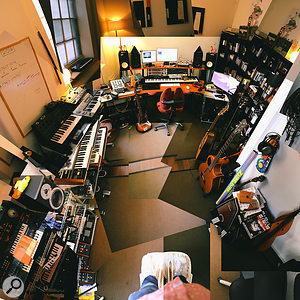 The Flight's well-equipped studio in East London.