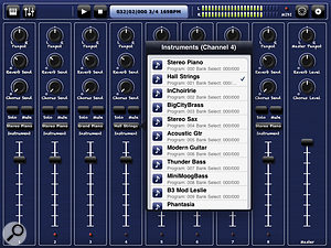 Bismark's bs‑16i is a SoundFont and MIDI file player for iOS devices. Anyone who owned an Emu Proteus 1 sound module might recognise some of the patch names.