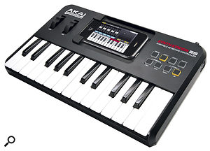 Your iPhone or iPod Touch can be the brain of the Akai SynthStation 25 mini-workstation keyboard.
