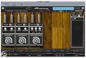 The range of stomp-box effects includes a couple modelled after named Ampeg designs.