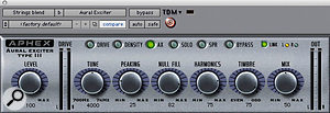 The Aphex Aural Exciter plug-in contributed to the string sound.