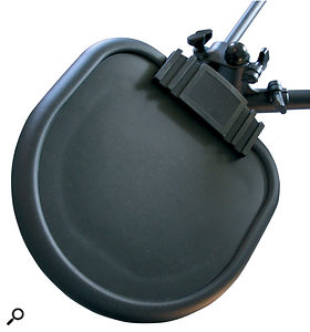 The five supplied rubberised drum pads are all identical — here's one in close-up.